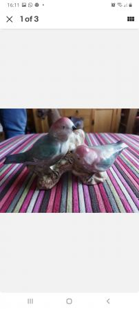Image 1 of Fielding Of Staffordshire Love Birds Figure