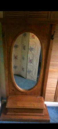 Image 2 of hallway coat hat mirror stand rack storage