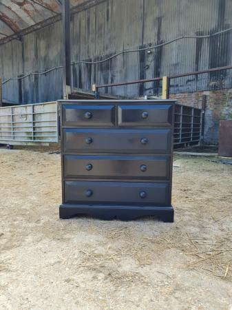 Image 4 of Black 2 over 3 Chest of Drawers