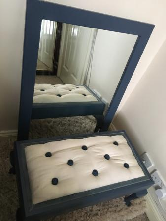 Image 2 of Bedroom stool and matching wall hung mirror