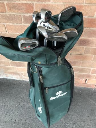 Image 2 of Macgregor Golf bag with clubs