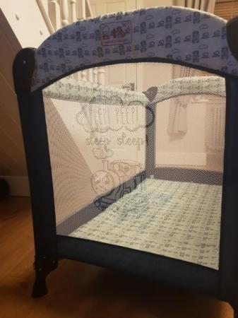 Image 2 of Thomas the Tank Engine travel cot with bassinet