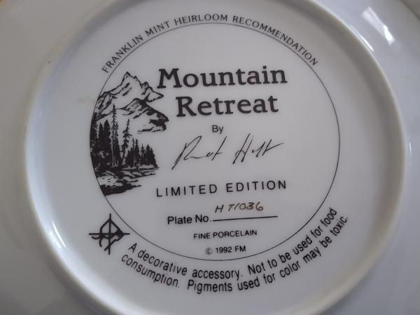 "Image 2 of Franklin Mint Heirloom ""Mountain Retreat"" Plate"