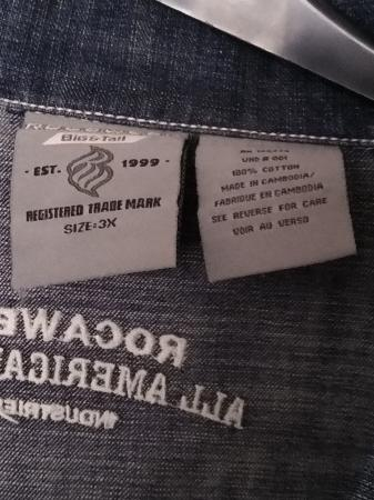Image 3 of Men's 3XL Roca Wear Denim Long Sleeves Jacket