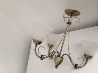 Matching ceiling and wall lights second hand lighting buy and ceiling light and matching wall light good quality bought from john lewis aloadofball Choice Image