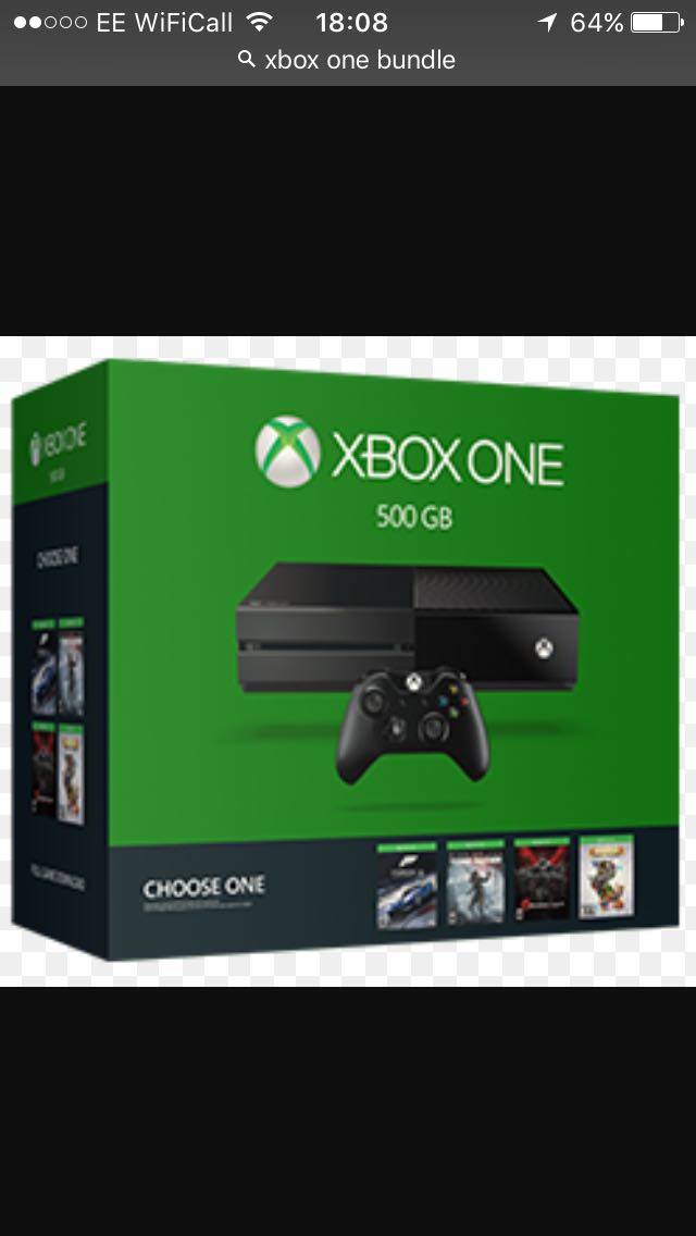 X box one bundle - Walsall, West Midlands - Brand new only used once. Xbox one with kenetic x2 wireless controllers, lightening controller charger and 5 games - Walsall, West Midlands