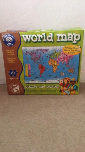 Orchard toys second hand toys and games buy and sell preloved orchard toys world map puzzle gumiabroncs Choice Image