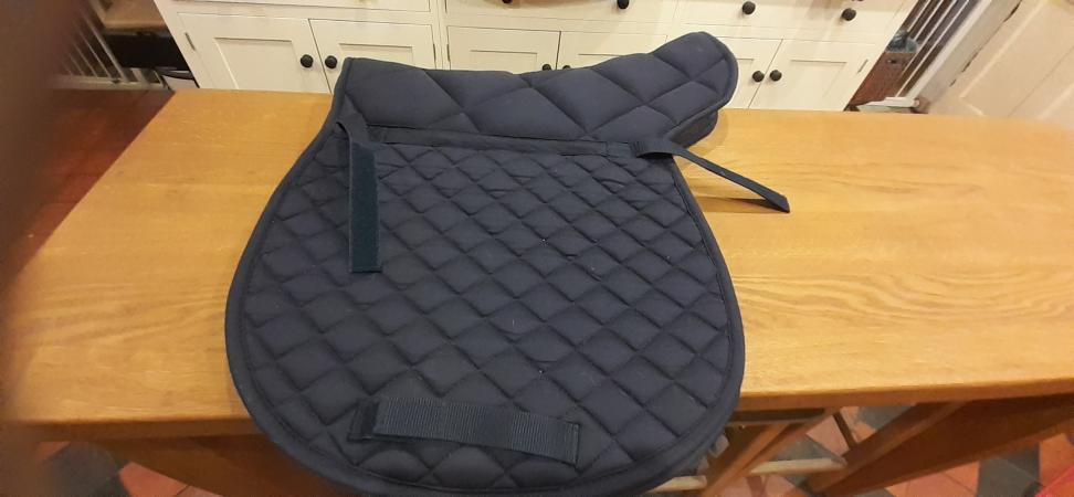 Image 2 of Navy Blue Padded Cotton Numnah Full Size