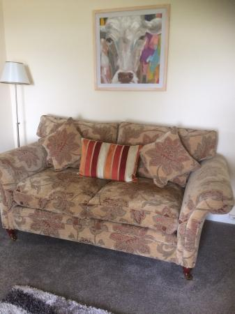 Image 1 of 3 seater sofa and two chairs.