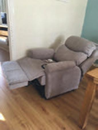 Brand New Chair Was Bought For Elderly Relative But Never Used It Is Silver Grey Tweed Material And GPlan Its Really Comfortable Modern Looking