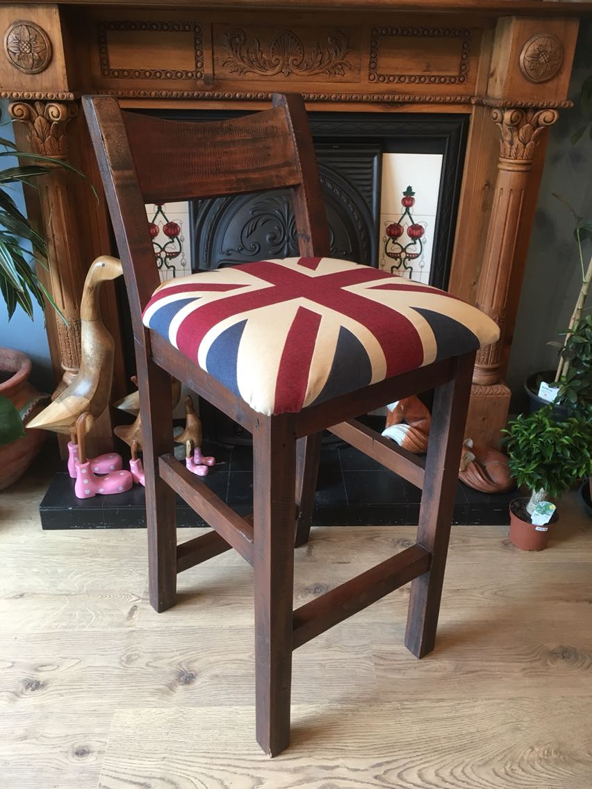 Solid Wood Union Jack Tall Chair & union jack furniture - Second Hand Household Furniture Buy and Sell ...