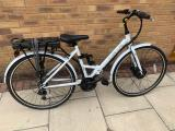 E-Plus Commute White Folding Electric Ladies Bike - £500 ono