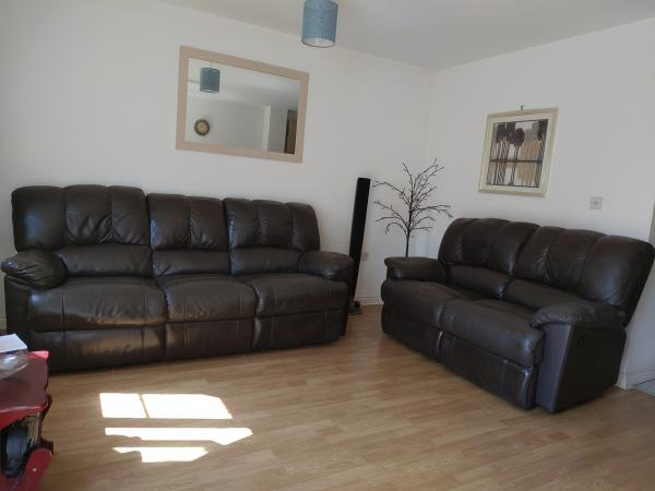 3 And Or 2 Seater Faux Leather Recliner Sofa For Sale In Swindon