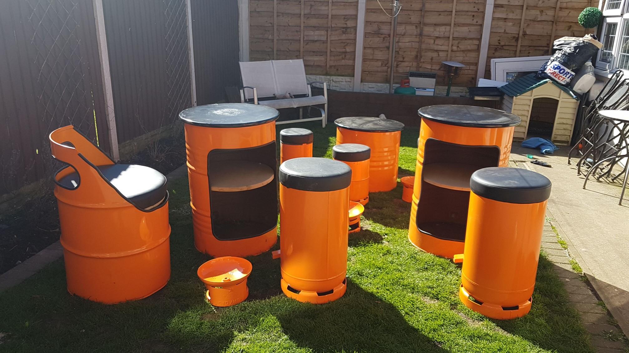 drum furniture. Oil Drum Furniture