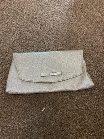 Image 1 of Silver clutch bag