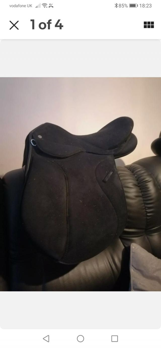Preview of the first image of 16.5 interchangeable gullet saddle SOLD.