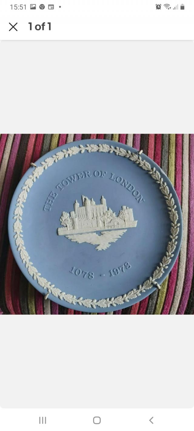 Preview of the first image of 1078 1978 The Tower Of London Wedgewood Jasper Wear.