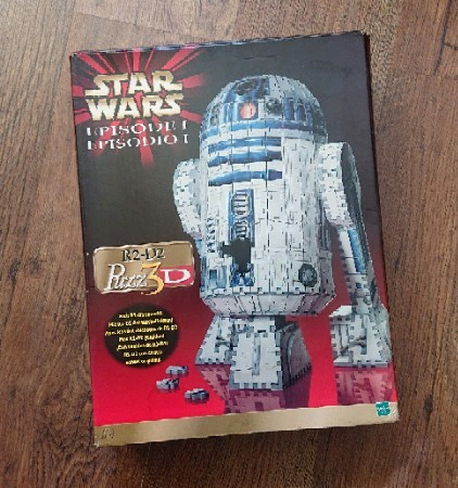 Preview of the first image of Amazing R2-D2 three-dimensional Puzz3d jigsaw 100% complete.