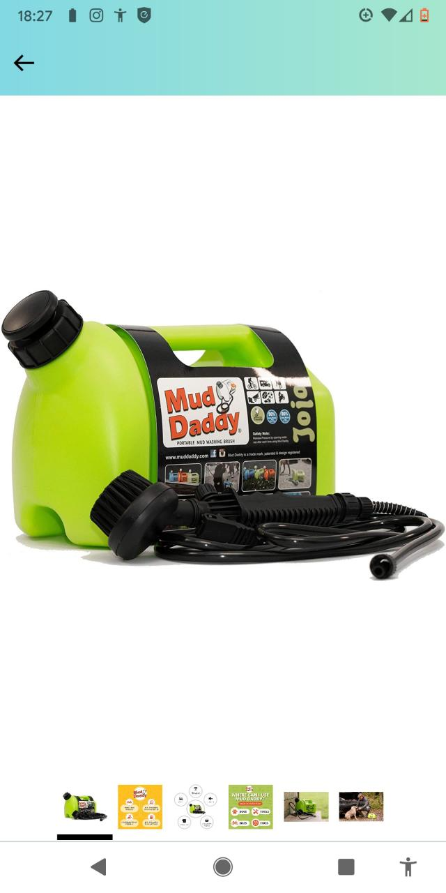 Preview of the first image of Mud Daddy unwanted gift portable washer.