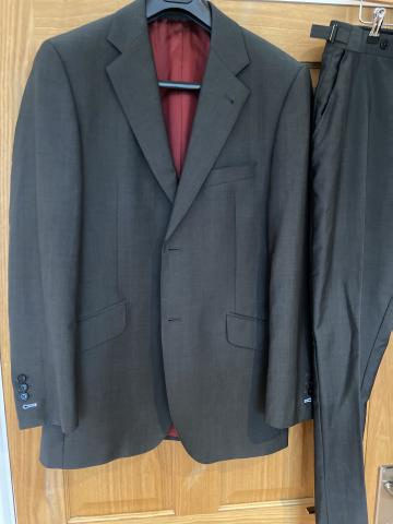 Preview of the first image of Men's charcoal grey saville row suit.