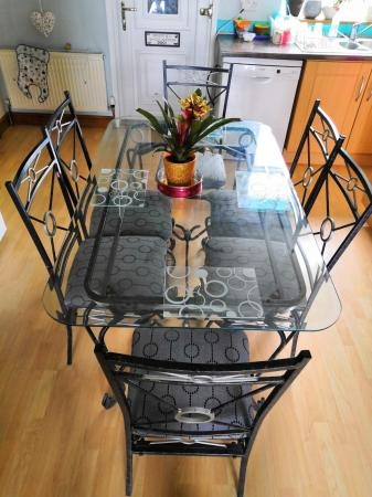 Glass Dining Table And Matching 6 Chairs For Sale In Doncaster East Riding Of Yorkshire