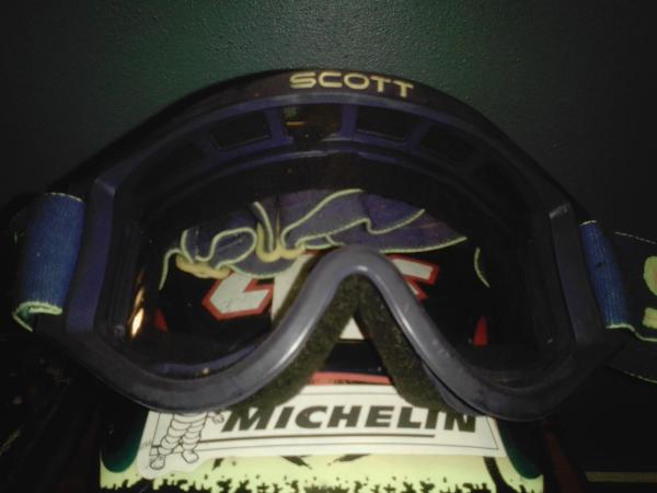 Image 3 of boys crosser helmet & Gogels size 52 small approx age 7 upwa