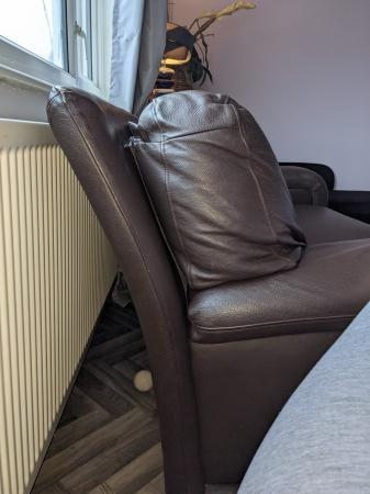 Image 4 of Brown Leather Couch