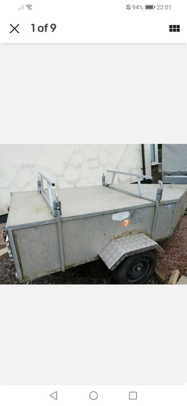 Preview of the first image of kayak canoe watersports kit camping trailer.