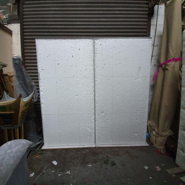 Preview of the first image of Free standing foam boards flowerwall with replacement foams.