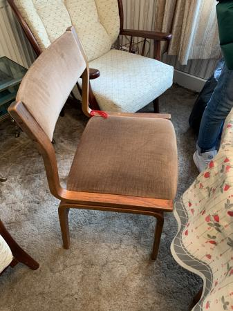 Image 1 of Mid Century Dining Chairs x 4