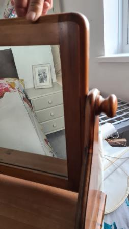 Image 2 of pine dressing table mirror