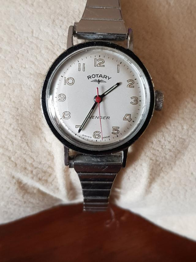 Preview of the first image of Ladies vintage 60s rotary avenger hand wind watch.