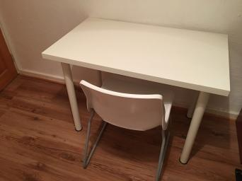 White Modern Desk Beauty Table Etc And Chair For Sale Used In Great Condition The Matt Gloss With Little Ware Odd