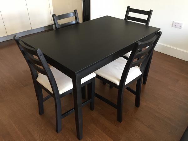 Dining Table 4 Chairs 100