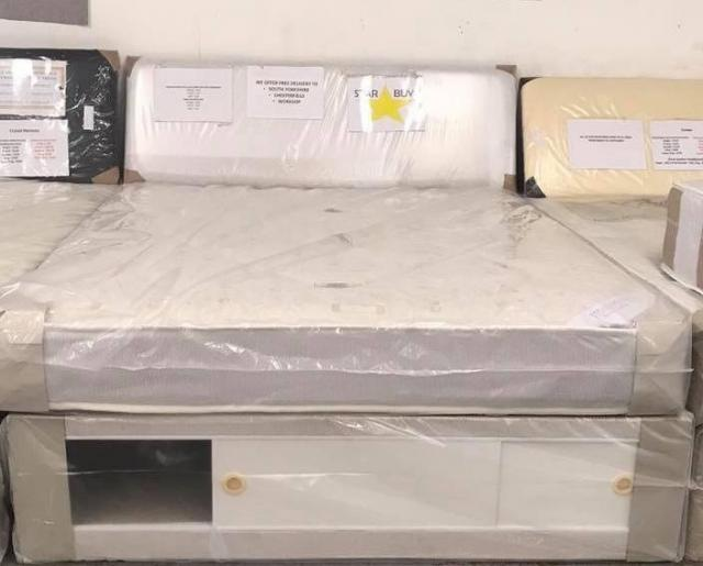 Preview of the first image of KING YORK DIVAN BASE WITH SLIDE STORAGE 9 INCH DEEP.