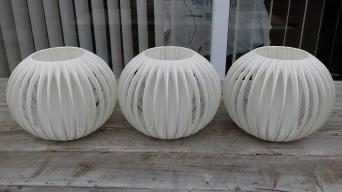 Vintage lamp shades second hand lighting buy and sell in the uk 3 vintage light lamp shades silk spaceage aloadofball