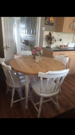 Shabby Chic Style Dining Table And Chairs For Sale In Oldham Lance