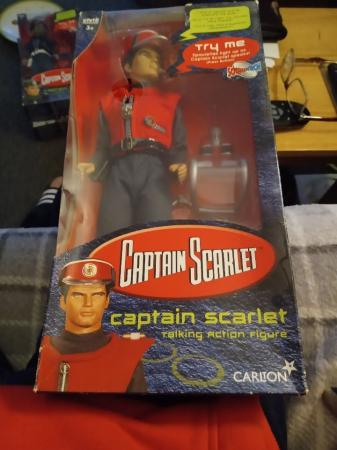 Image 1 of CAPTAIN SCARLET FIGURE BOXED.