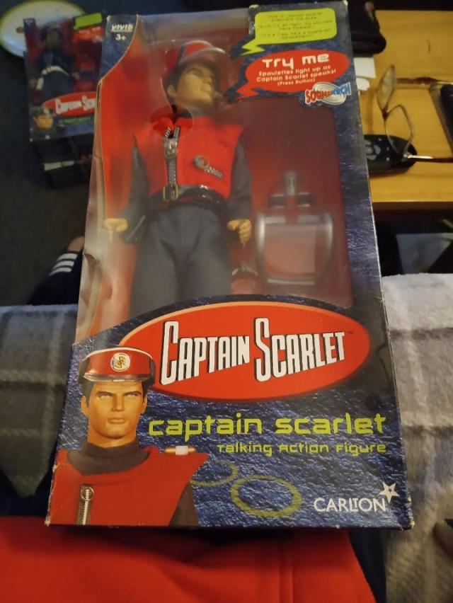 Preview of the first image of CAPTAIN SCARLET FIGURE BOXED..