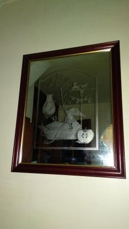 Image 3 of DECORATIVE ETCHED WALL MIRROR
