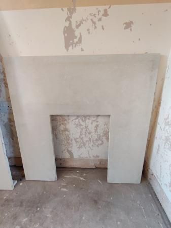 Image 3 of White Marble Hearth and backplate