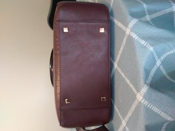Image 3 of Clarkes handbag with crossbody straps Burgundy mock croc  st