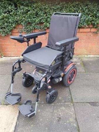 Image 4 of Quickie Q100 R  Ultra Compact Electric Power Wheelchair.