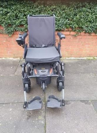 Image 5 of Quickie Q100 R  Ultra Compact Electric Power Wheelchair.