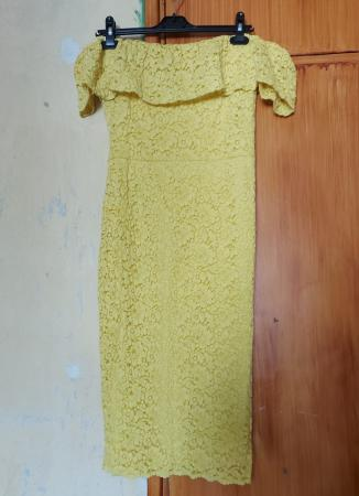 Image 1 of Yellow Floral Lace Midi Dress - Brand New