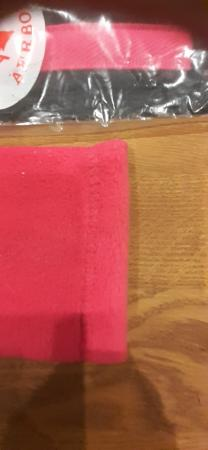 "Image 5 of 52"" Aerborn girth pink/black with pink fleece girth sleeve"