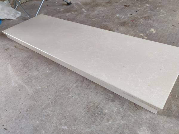 Image 2 of White Marble Hearth and backplate