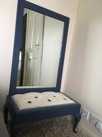 Preview of the first image of Bedroom stool and matching wall hung mirror.