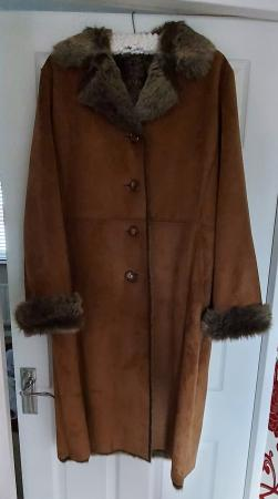 Image 1 of Vintage Hucke oversized winter coat never worn size 12