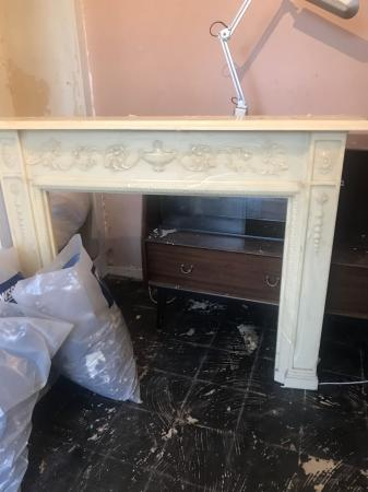 Image 1 of Marble fireplace surround.